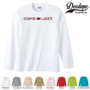 "【DEEDOPE】 ""CAFE "" ロンT 長袖 プリント Tシャツ"