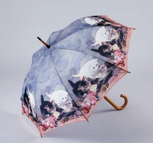 Famous Painting Series One push Umbrellas Cat Friend