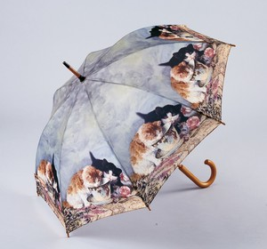 Famous Painting Series One push Umbrellas Cat Milk