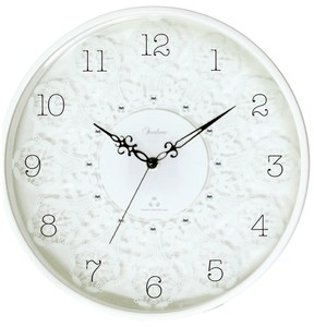 Glass Lace Radio Waves Wall Clock