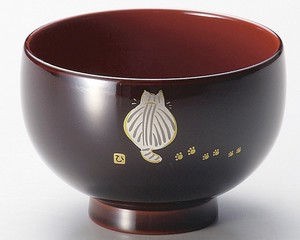 Soup Bowl Behind Kids Soup Bowl Echizen Lacquerware E0004