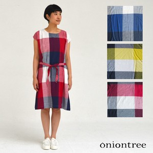 One-piece Dress Checkered