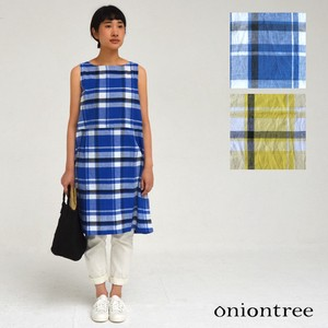 One-piece Dress Tartan Check