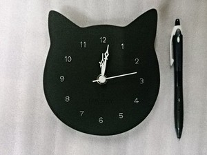 Cat Face Clock Mike