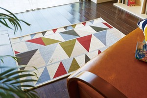 Diagonal Triangle Plune Collaboration Pop Design Neil Weaving Floor Rug