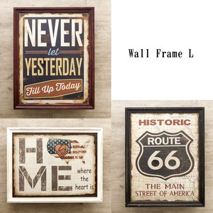 nostalgic Items Wall Frame American Miscellaneous goods