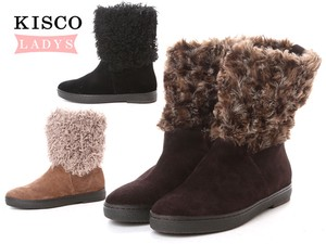 Genuine Leather Suede Fake Fur Casual Short Boots