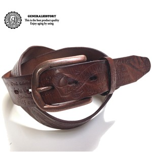 Cow Leather Craft Belt Special Vintage Processing
