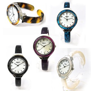 Lightly Plastic Bangle Watch Ladies Wrist Watch