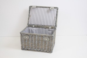 Silver Top Picnic Basket