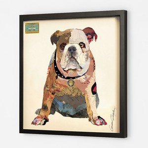 Collage Series Bulldog Animal