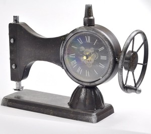Table Clock Antique Sewing Machine Clock/Watch