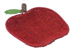 Paper Basket Apple Red Wire Accessory Case