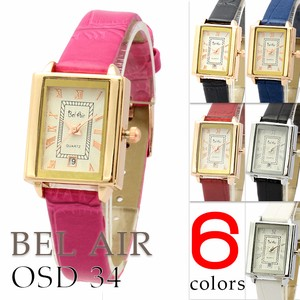 Calendar Effect Attached Square Face Ladies Wrist Watch Warranty Card Attached