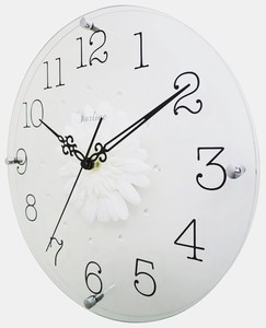 Art Flower Clock Wall Clock White