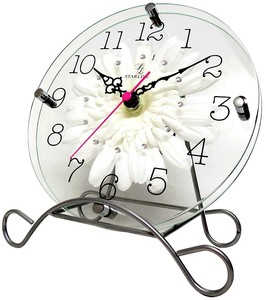 Art Flower Clock Unisex Clock/Watch White