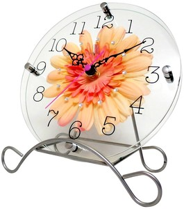 Art Flower Clock Wall Clock Peach