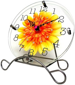 Art Flower Clock Unisex Clock/Watch Yellow
