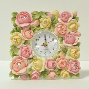 Bouquet Rose Clock