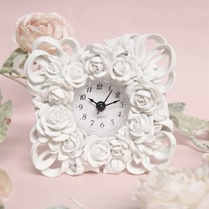 White Rose Clock