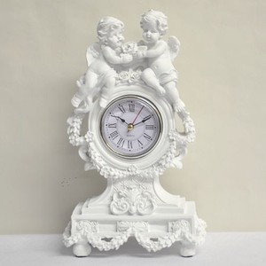 White Angel Table Clock
