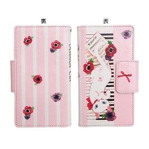 Ribbon Cat Notebook Type Smartphone Case Piano