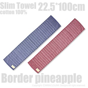Hawaiian Border Slim Towel