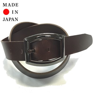 New Color Oil Leather Black Plating Buckle Belt
