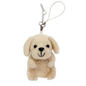 Mobile Phone Cleaner/Sitting Golden Retriever / earphone jack plug accessory