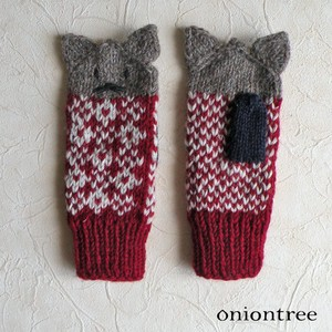 Appreciation Knitted Mitten Cat Glove Wool
