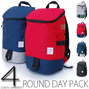 2 Tone Nylon Round Daypack Backpack Ladies Men's