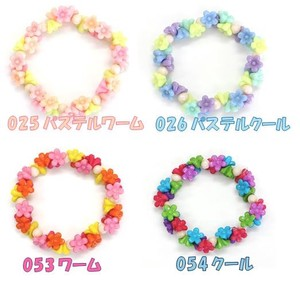 TOWACOLON Beads Pack Flower Rainbow Beads Kids For Child