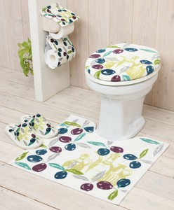Set Olive Toilet Kitchen Mat