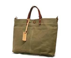 Canvas Spain Leather Tote Bag