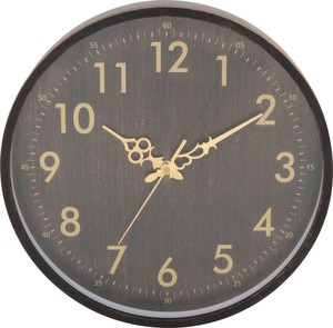 Antique Wood Grain Wall Clock White Black