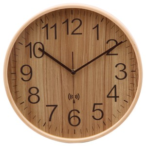 Atomic Clock Wall Clock Ply Wood Width 4 Colors