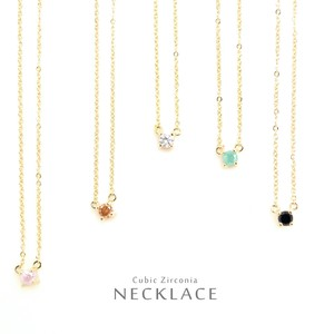 Zirconia Color Necklace Beauty Stone Stone Chain Charm