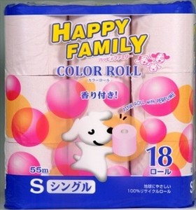 Happy Family Pink Roll Aroma Single Toilet Paper