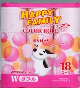 Happy Family Pink Roll Aroma Double Toilet Paper