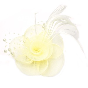 Pearl Feather Flower Brooch