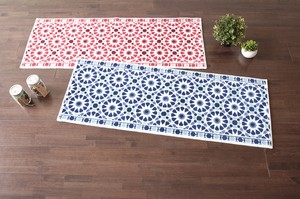 Kitchen Mat Scandinavian Style Moroccan Tile With Non-Slip