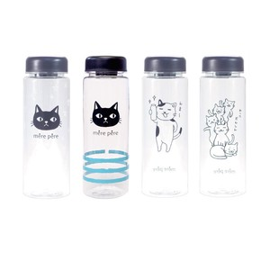Cat Miscellaneous goods Clear Bottle 4 Types Water Flask Canister Youth Bottle Lucky Bag
