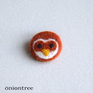 Animal Felt Brooch Owl Accessory