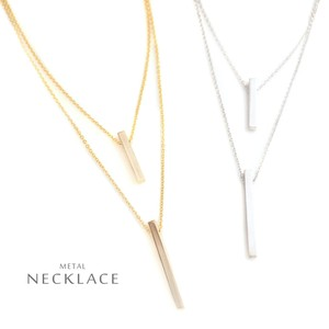 Stick Double Necklace Beauty Accent Line