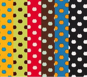 NEKOTAMA Fabric 6 Colors Dot Hand Maid Print Fabric