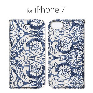 iPhone Case Notebook Type Paisley Denim Paisley
