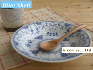 Blue Shell Curry Set Mino Ware