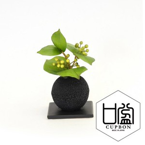Bamboo Coal Ball Plate Cup Interior Plant
