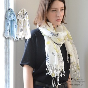 S/S Fruit Print Stole Scandinavia Natural