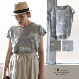 Gull Print T-shirt Top Scandinavia Natural